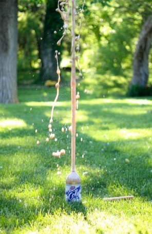 Make science fun with a mentos geyser experiment