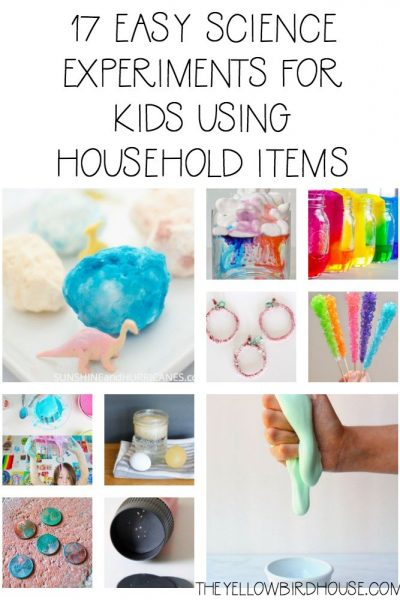 A round up of 17 simple science experiments for kids. Foster their love of learning all while using household items! Perfect rainy day activities for kids.