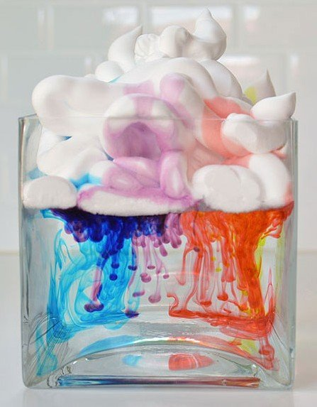 Shaving Cream cloud science experiment