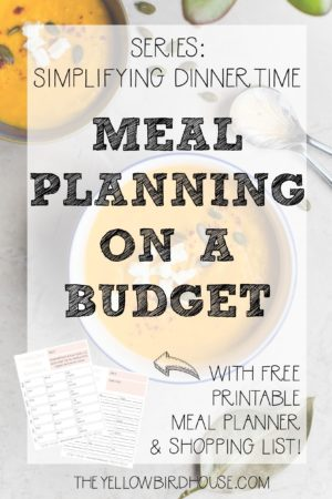 Do you struggle with managing a chaotic dinnertime hour? Start simplifying this part of your day by meal planning on budget!