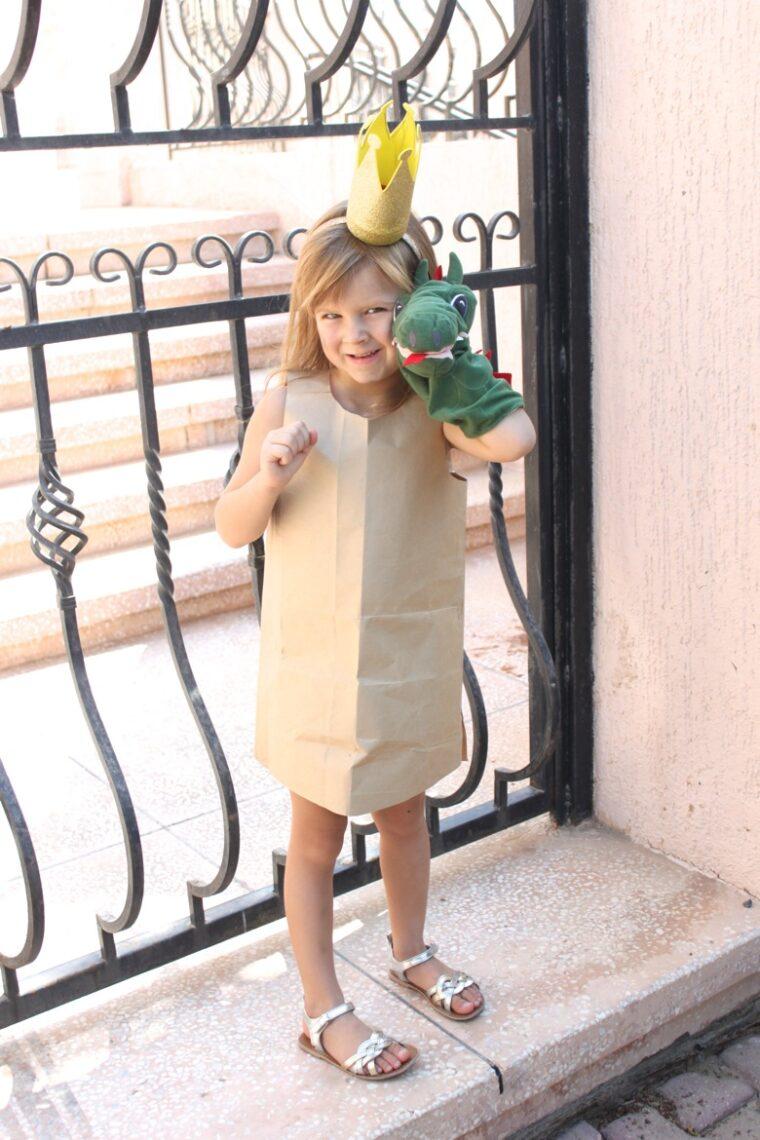 How to make a simple Paper Bag Princess costume