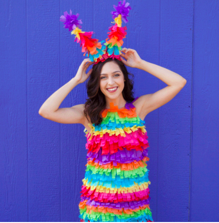 How to make an easy DIY pinata costume for a last minute Halloween party