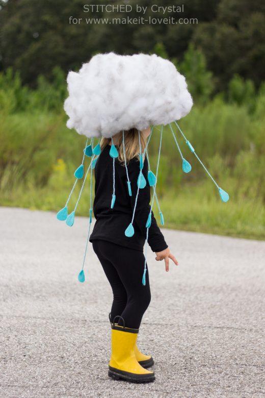 How to make a fun rain cloud costume in a hurry