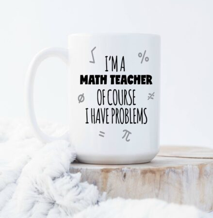 Funny math mug for teachers