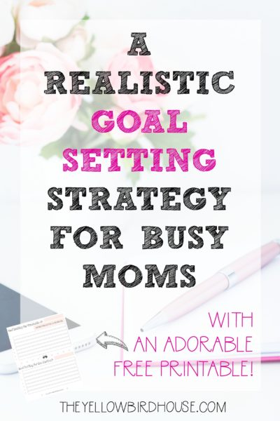Do you find yourself totally overwhelmed by your to-do list? Is your overflowing list of tasks even bringing you closer to reaching your goals? This strategy will help you focus on your priorities and give you clarity in the process. Plus grab a free copy of an adorable goal setting worksheet to help keep you on track. Realistic goal setting is crucial to organizing your days and keep you moving toward your dreams!