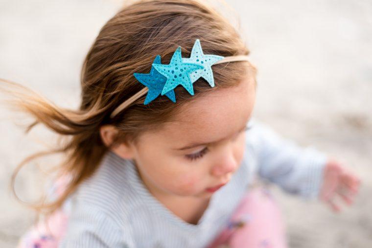 Mermaid Birthday Party Teal Starfish Headband - Felt Mermaid Headband