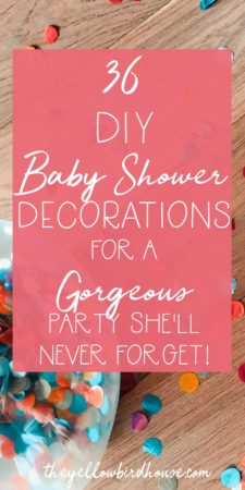 DIY baby shower decorations for a totally gorgeous party! This is the last post in our DIY Baby Shower Series! There are great ideas for DIY backdrops, garlands, balloons, flowers and much more! Baby Shower DIY Decor for the crafty hostess! Includes free printables to make the job easier.
