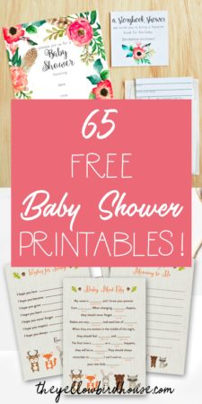 65 Free Baby Shower Printables for throwing an adorable party! Free printables include baby shower invitations, games and decor. These free printables for baby shower include woodland themes, nautical themes and both boy and girl color schemes. Free baby shower games add a lot of fun and laughs to the party! Make a new mama feel special and loved by showering her with attention.