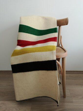 hudson's bay blanket replica for a cozy nook