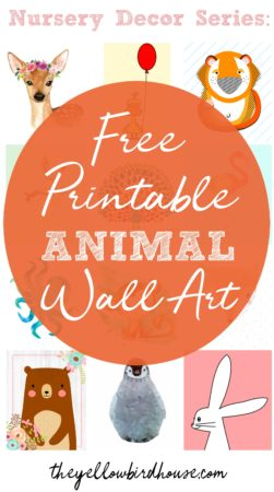Do you need some free printable animal wall art for your nursery or child's bedroom? Here is a roundup of 57 of the best and cutest animal nursery printables. Free woodland printables, ocean printables, safari printables and much more. Lots of these free wall art pieces come in a set of multiples too, so you can create a themed nursery very easily. Nursery decor on a budget. Free printables for the frugal mom.