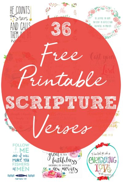 Part 3 in the Nursery Decor on a Budget series! 36 totally free printable scripture verses to hang in your little one's bedroom. Printable bible quote cards. Pretty scripture quotes to use as home decor. Gorgeous free printables for your nursery.