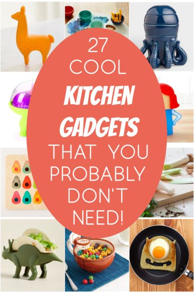 Ever find yourself browsing online and stumbling on all sorts of gadgets that are totally unnecessary? Yup, me too. So I compiled 27 cool kitchen gadgets into one list of items you likely have no use for! Haha!