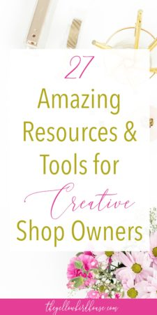 Are you a creative entrepreneur looking to jumpstart your business? With over 4 years of experience, I've compiled all the best resources and tools for creative shop owners that I personally use. Stand out as a pro in your niche whether you are an online shop owner or stick to craft fairs. There are loads of free tools for creative shop owners out there that will help make your handmade business a success!