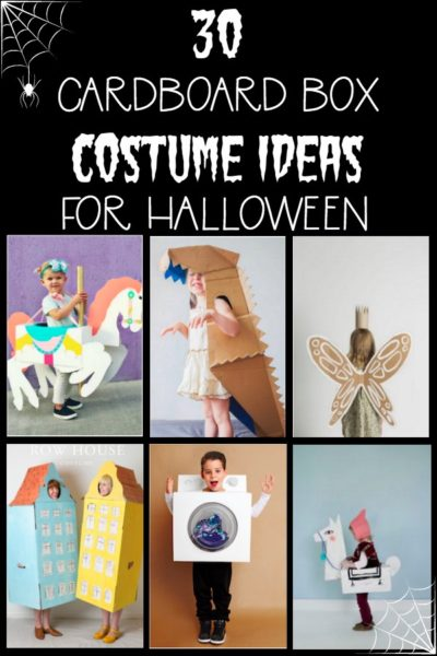 Looking for some fun cardboard box costumes for Halloween? Look no further! I've rounded up 30 of the cutest and cleverest costumes you can create using only a cardboard box and some imagination. DIY Halloween costumes for the whole family!