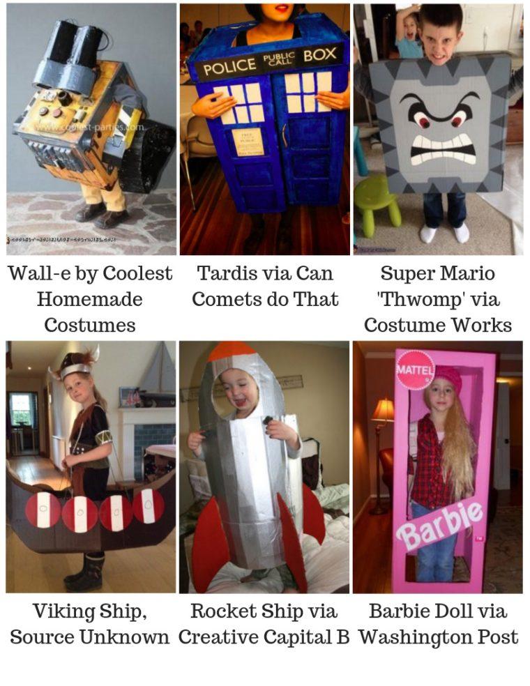 Last minute halloween costume ideas using cardboard boxes
