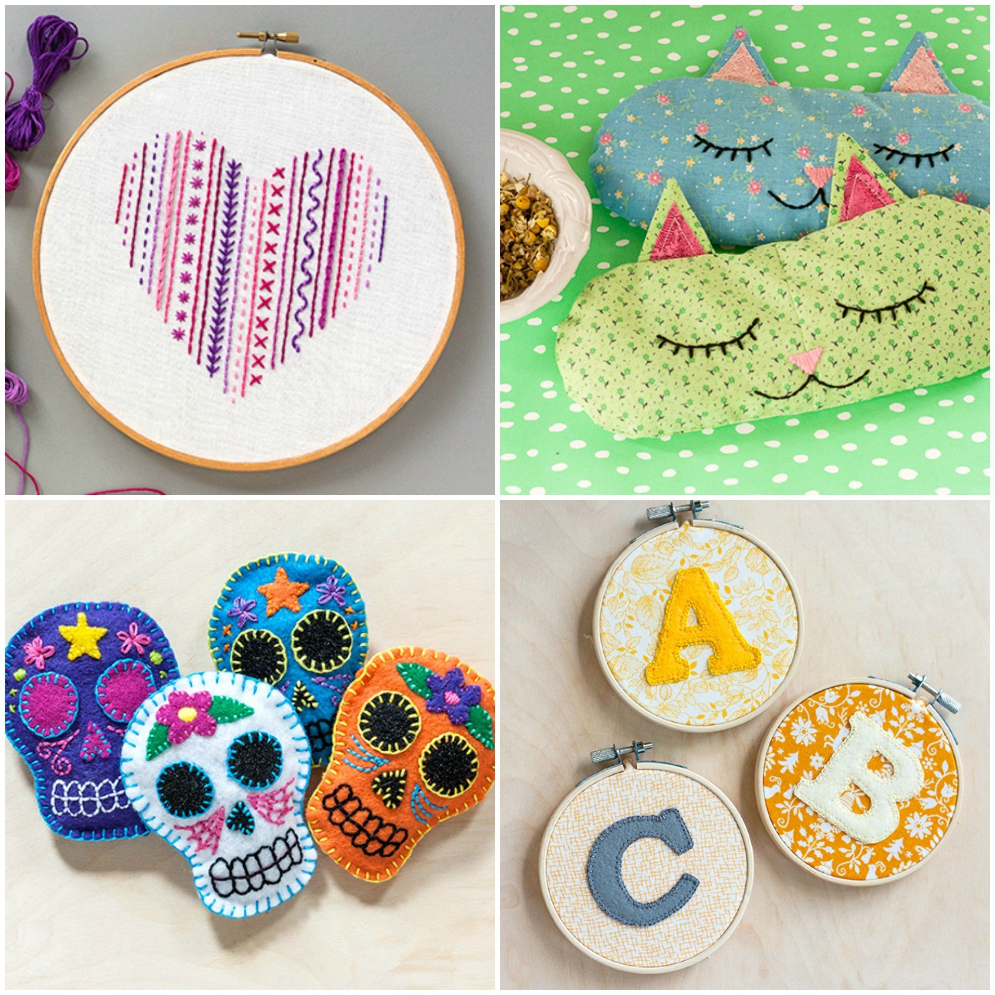 Cute tutorials with embroidery. Free craft project ideas