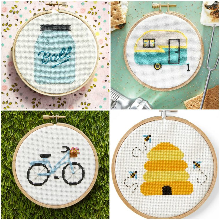 Adorable free cross stitch patterns from Country Living. Free for download.