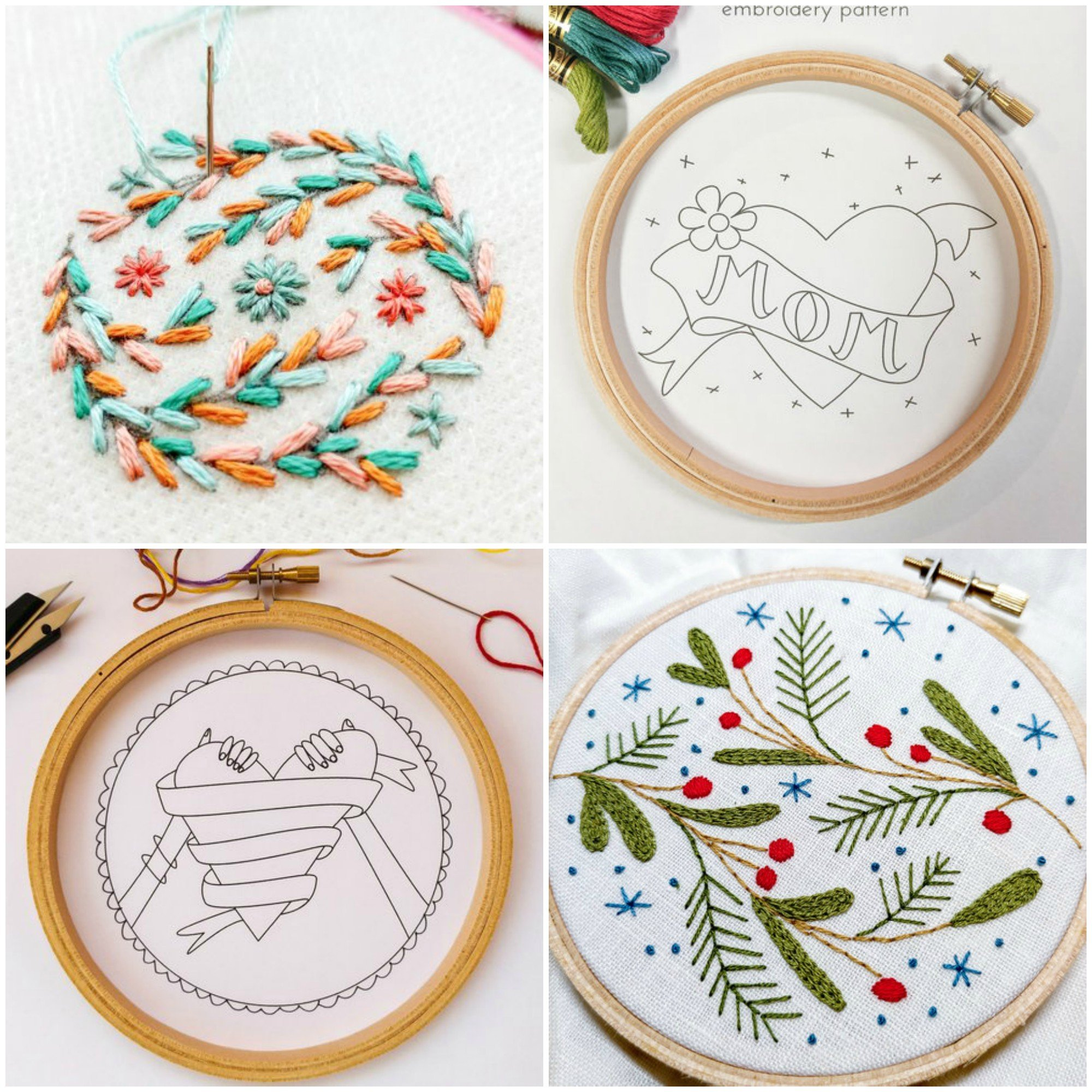 Pretty free embroidery patterns for download
