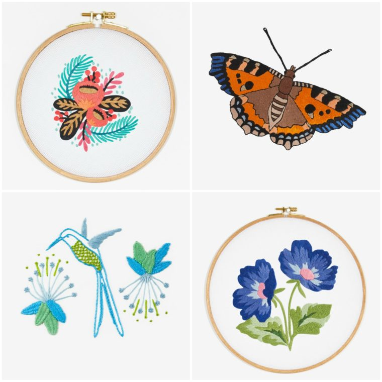 Free embroidery patterns from DMC