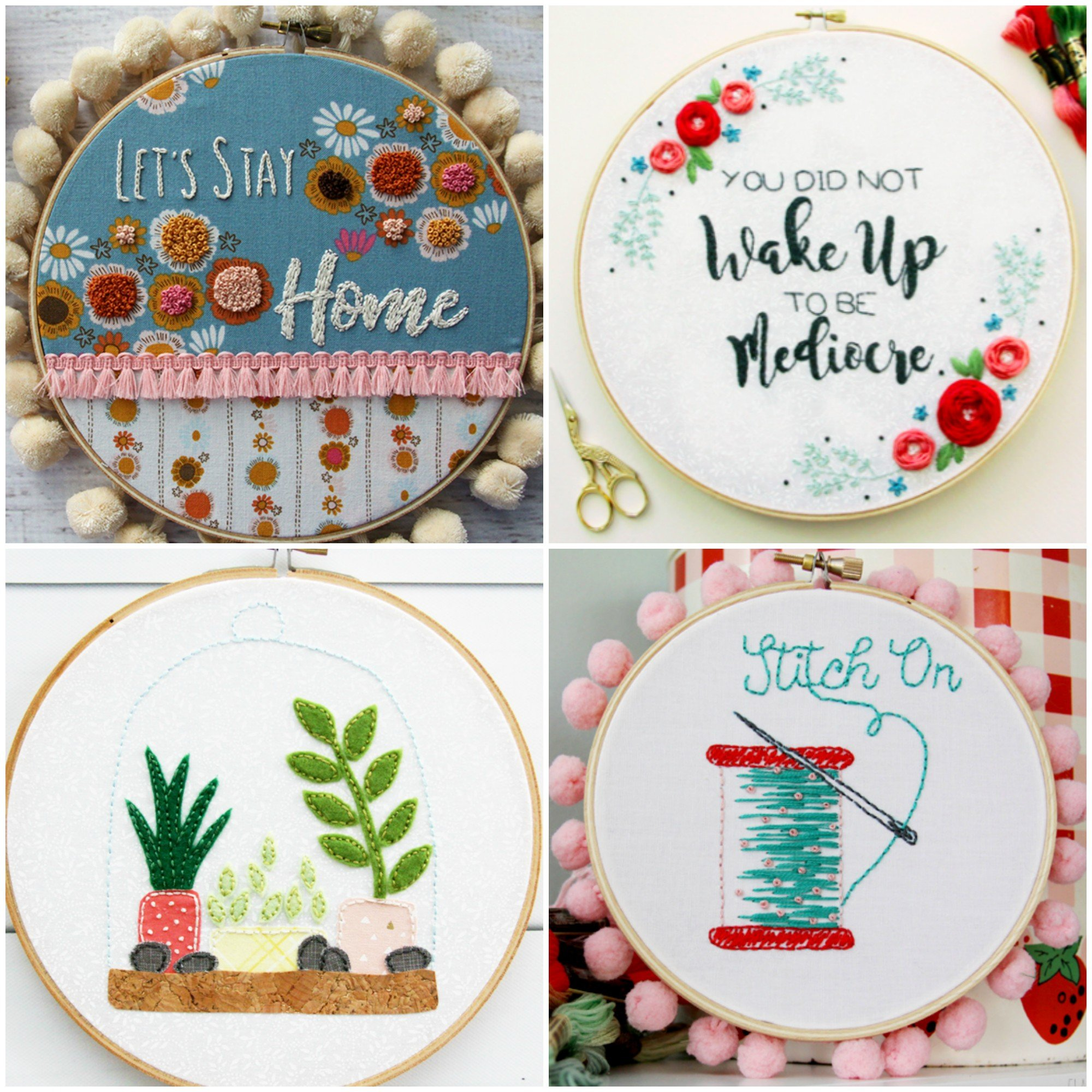Free embroidery patterns on Flamingo Toes