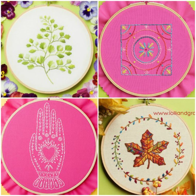 Gorgeous fern embroidery pattern for free download