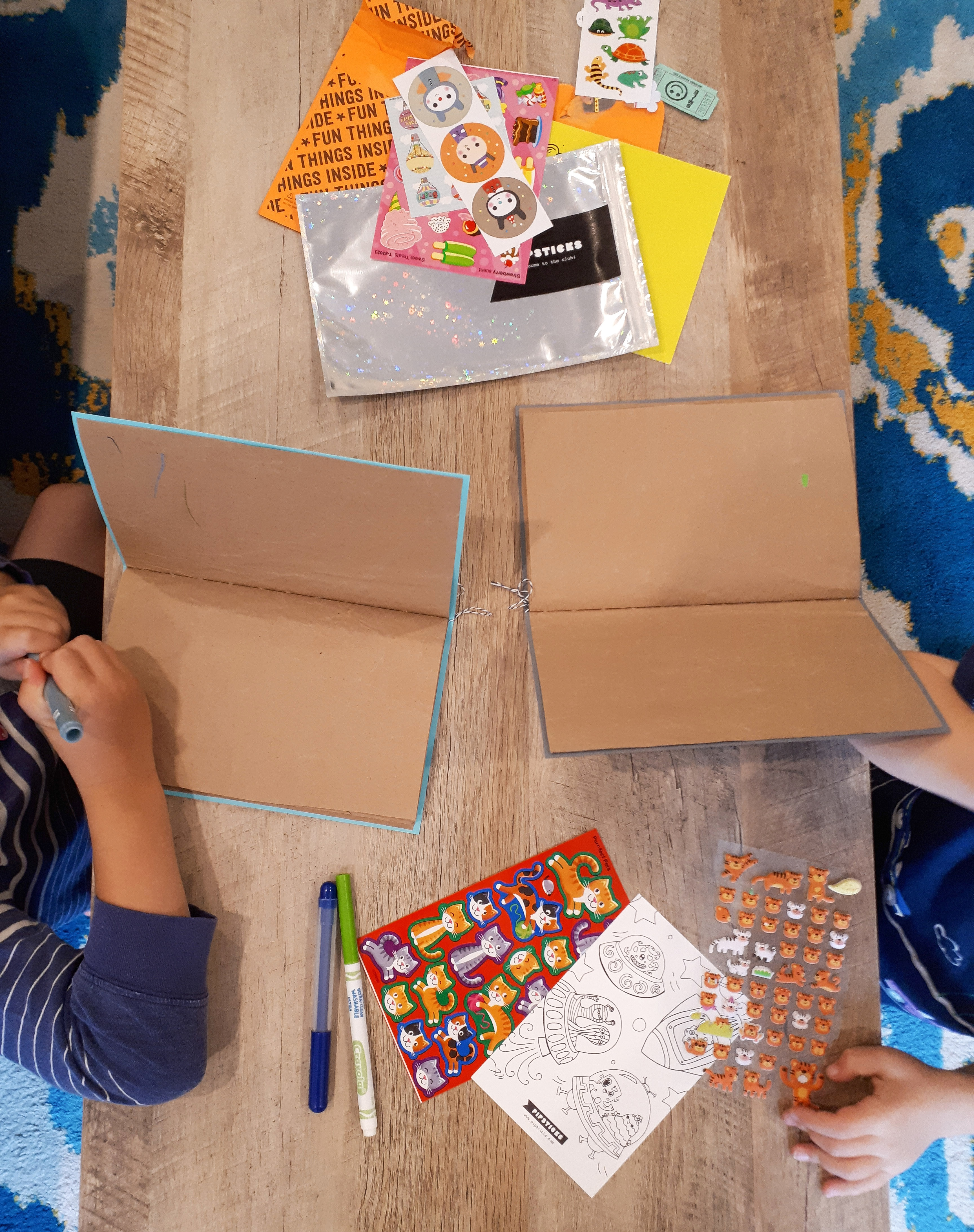 Creating DIY sticker books to go with our pipsticks subscription.