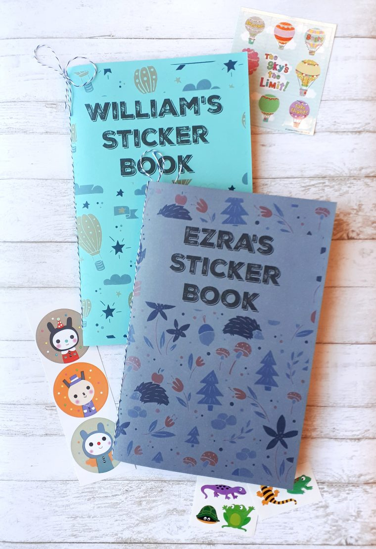 Make a cute DIY sticker book for your kiddos using upcycled paper!