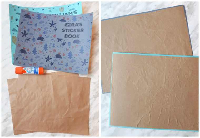 Add an extra layer of sturdiness to the front cover of your diy sticker book