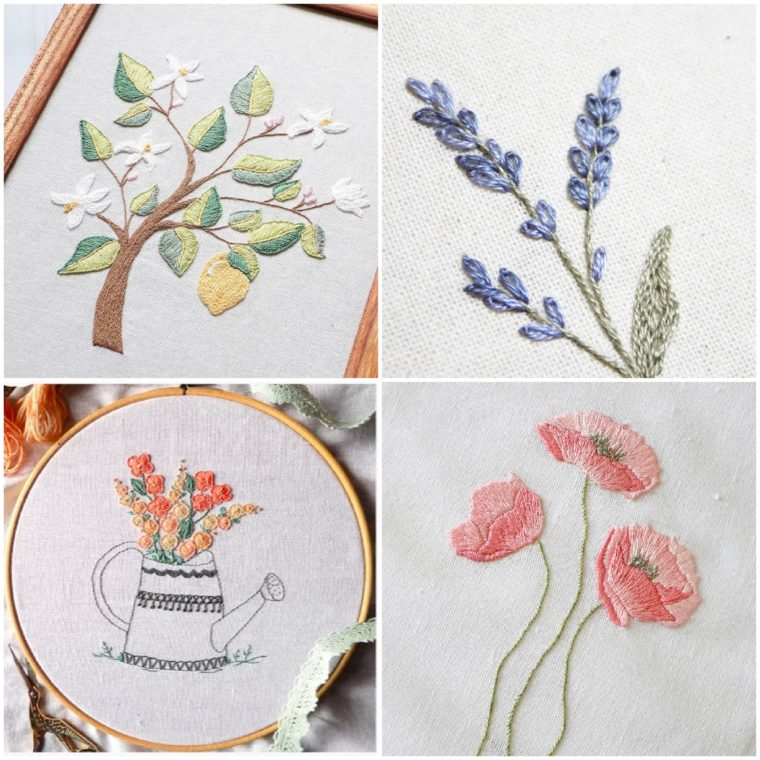 So many pretty floral embroidery patterns for free.