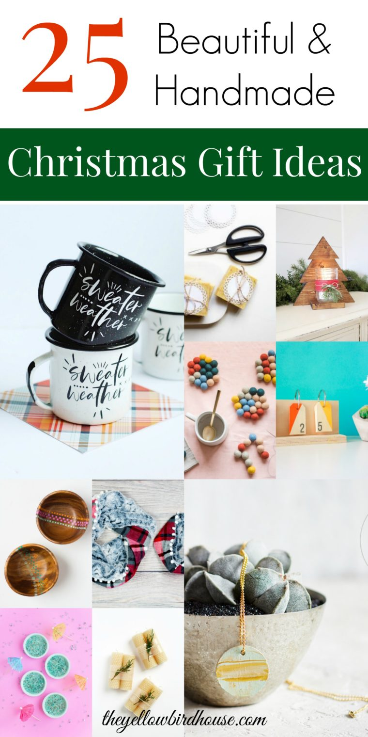 25 Unique Handmade Christmas Gift Ideas to Make or Sew. Craft up some beautiful gifts from this list of 25 amazing ideas. Homemade gift ideas on a budget. Unique gift ideas to make for friends and family. DIY Christmas gift ideas on a budget.