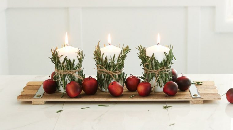 Beautiful Christmas centerpiece DIY
