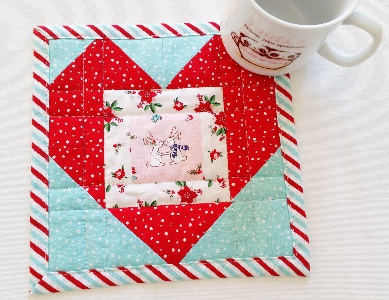 Quilted Mug Rug Tutorial