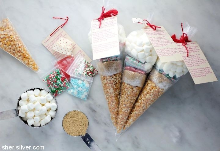 Popcorn ball kits, DIY Christmas gift ideas for kids