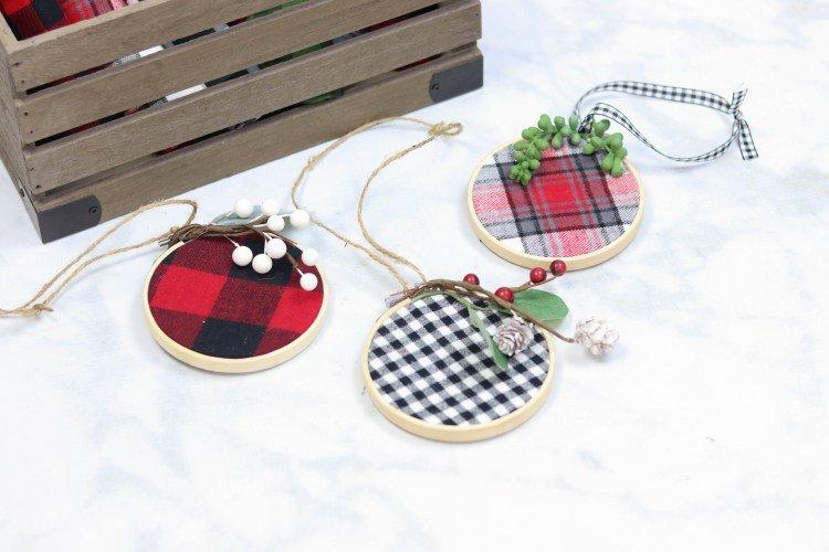 cute embroidery hoop christmas ornaments diy