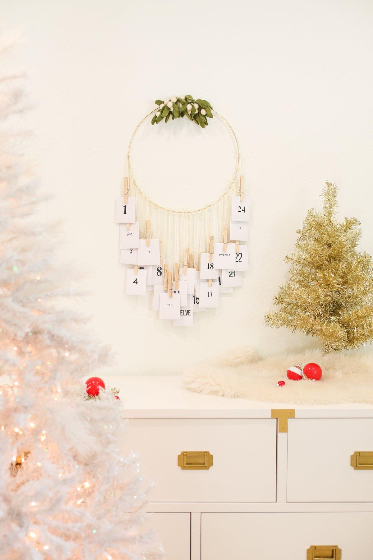 free printable advent calendar diy