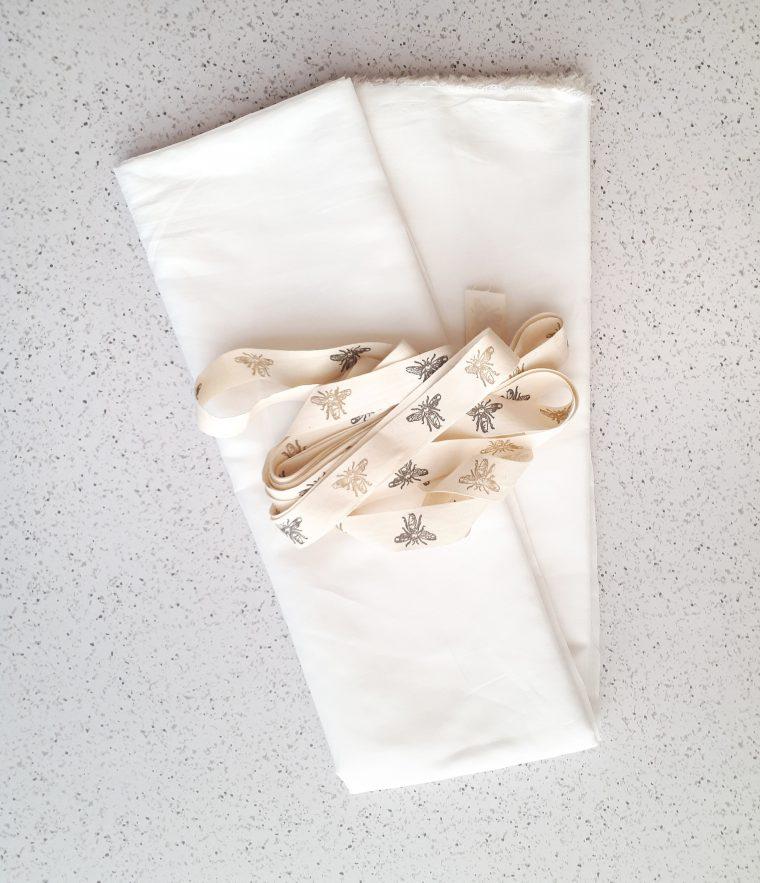 use white cotton voile to make diy zero waste produce bags