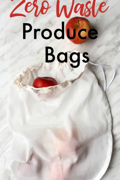 How to make diy zero waste produce bags! This is a quick DIY for reusable produce bags. A great zero waste project to help you on your eco journey. There's no more need to use those flimsy plastic produce bags that clutter up the landfill anymore! These DIY produce bags are extremely lightweight and slightly transparent making them perfect for transporting your fruits and veggies.
