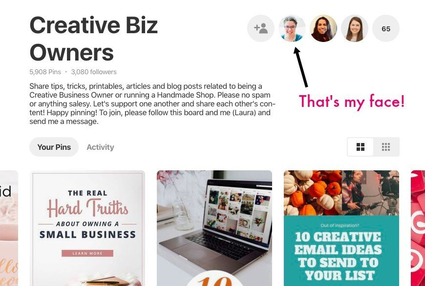 How to find Pinterest group board owners