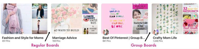 How to identify Pinterest group boards