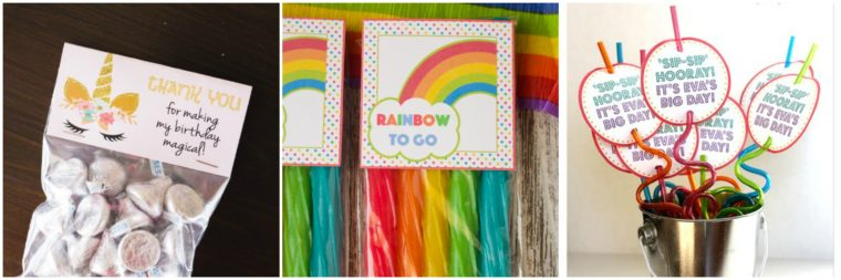 Birthday party favour ideas for kids