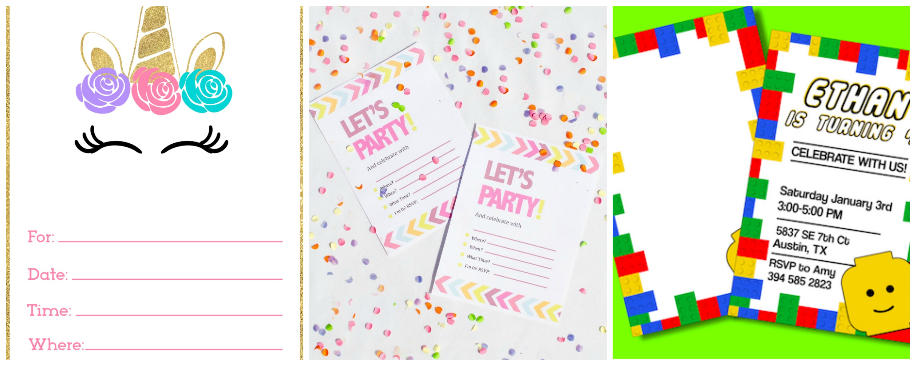 Free printable invitations for birthday parties
