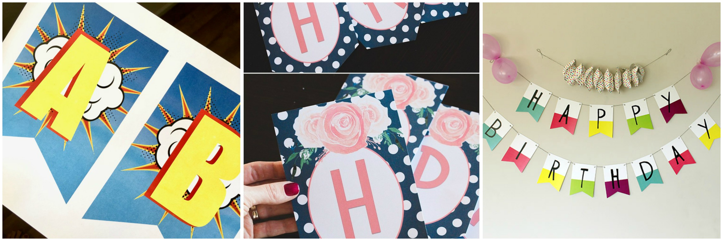 free printable birthday party banners