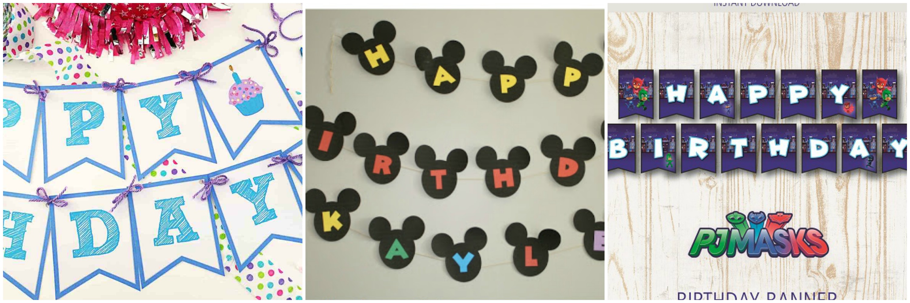 free birthday party printable banners