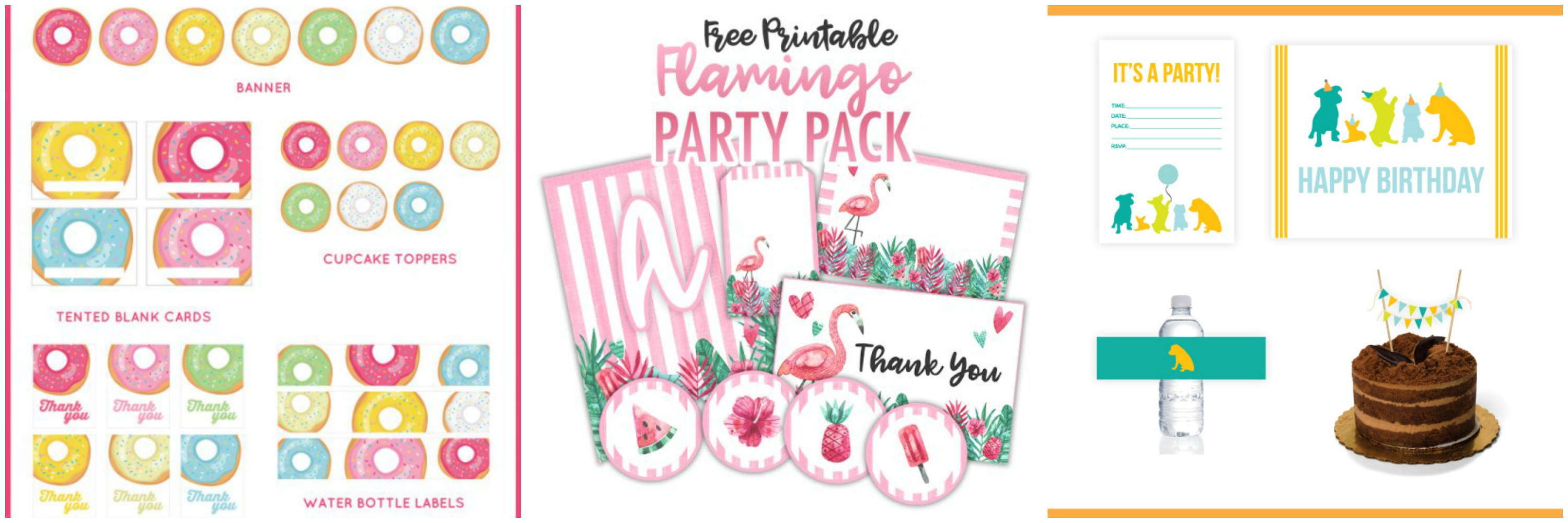 printable party packs for kids birthday parties