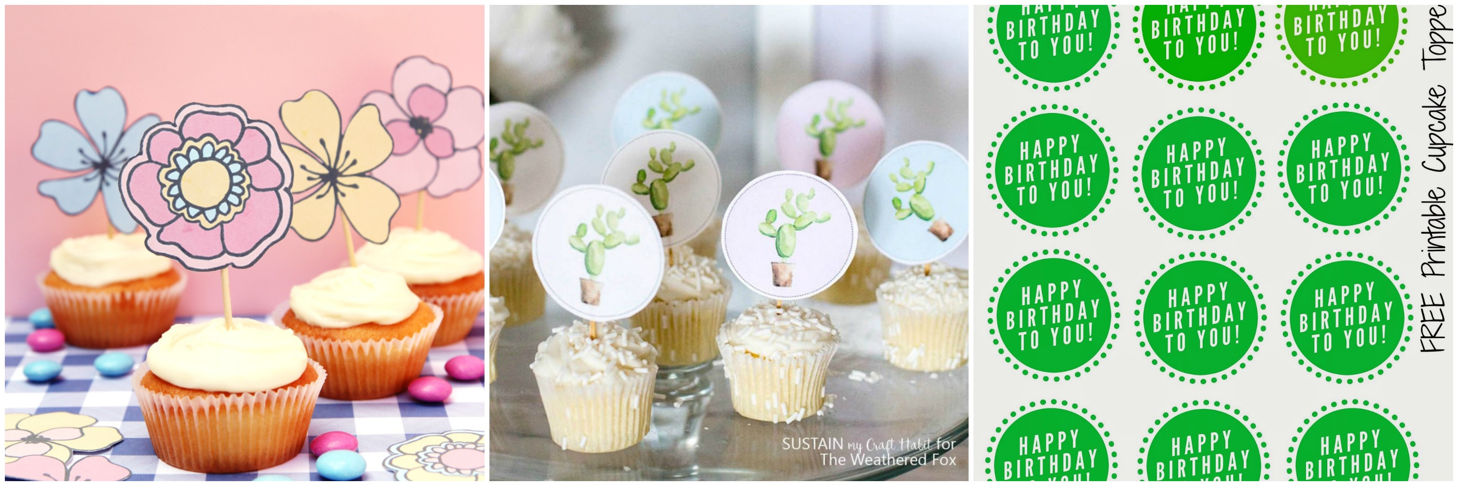 printable cupcake toppers for free