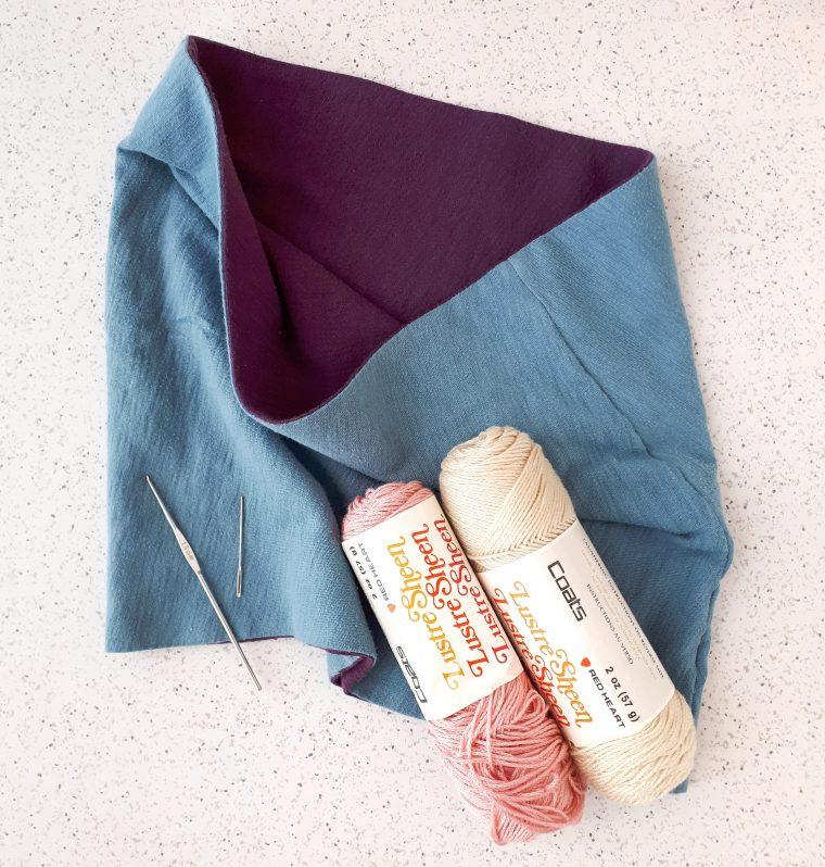 add a crochet trim to your DIY cowl