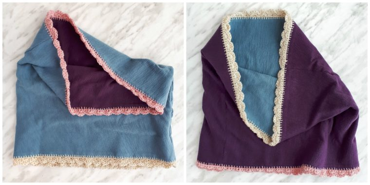 How to make a reversible DIY cowl from upcycled t-shirts
