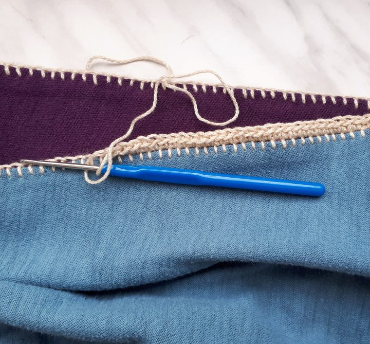 Add a row of single crochet