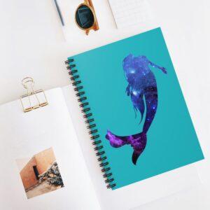 Beautiful celestial mermaid notebook for moms