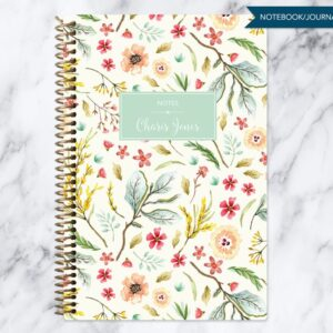 pretty floral notebook for journaling